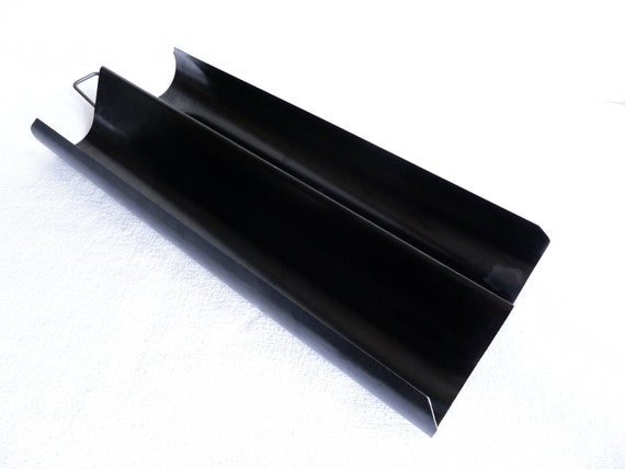Double French Baguette Bread Baking Pan Stone Hearth Black