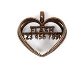 Heart Shaped Personalized Dog Tag