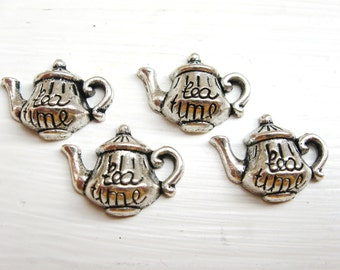 Teapot Charms in silver for Tea Time