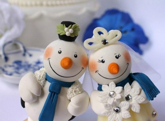 Banner Wedding Cake Topper Wedding Cake Topper Snowmen
