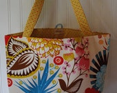 Washable Reusable Fabric Grocery Market Tote Bag - Sweet Market Tote