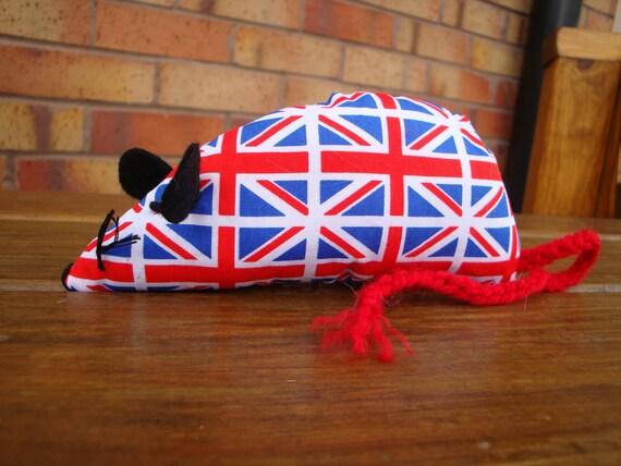 Britannia the Catnip Mouse - Union Jack design - Diamond Jubilee Olympics