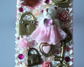 Golden Pink Princess Bear - iPhone 4 case Free Shipping Within US