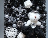 SALE - Gothic Lolita Black Princess Bear - iPhone 3 case Free Shipping Within US