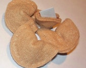 Felt Fortune Cookies With Fortune Message Notes (set of 5), Small Cute Tan Play Food