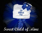 Kentucky Wildcat Ribbon/Bow Onesie and Tutu Outfit