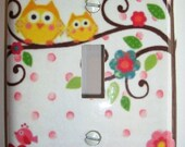 Handmade Happi Tree Single Switchplate Cover