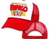 Happiness Is Yelling Bingo Mesh Trucker Hat Cap