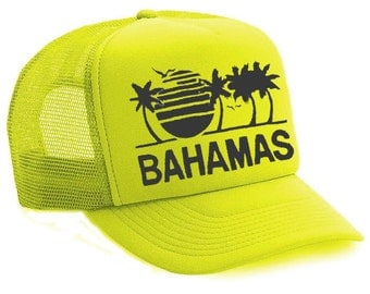 Neon Yellow Bahamas Hat Cap
