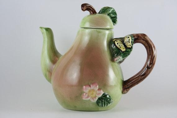 teapot ceramic pear vintage serving teapots