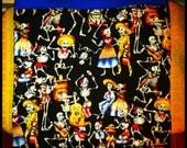 Day of the Dead Día de los Muertos Tote Bag Handmade Tote Bag Vintage Fabric Retro