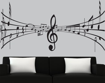 Music wall decal vinyl notes musical decals modern house decals