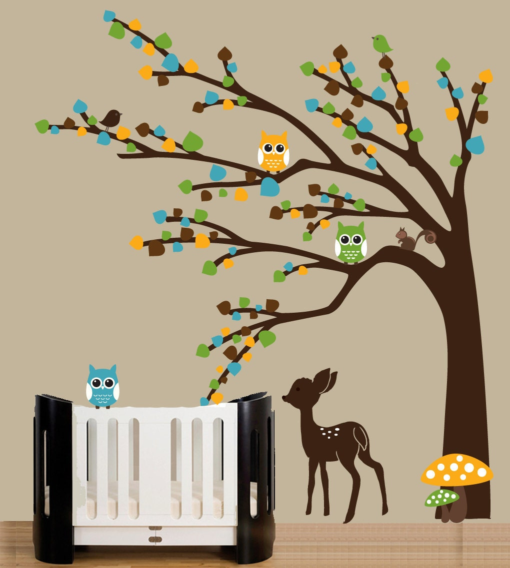 Popular items for deer wall sticker on Etsy