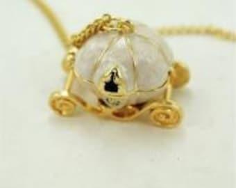 SALE Cinderella Necklace, vintage style, pumpkin, disney