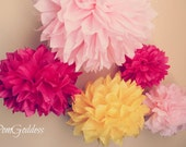 40 Tissue Pom Poms,wedding reception decorations...PICK your Colors