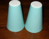 Vintage Canonsburg Salt and Pepper Shakers in Temporama Pattern