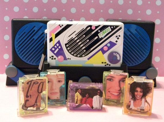 90s Music Toys : Vintage s fisher price pocket rockers mini cassette