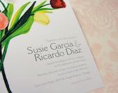 Tulips - DIY Printable Wedding Invitation Set: Invitation & RSVP