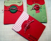 Handmade Christmas Gift Card Holders - Set of 3