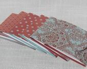 Matchbook Memo Pad - Matchbook Noepad -  Set of 6 -  Rose & Light Blue