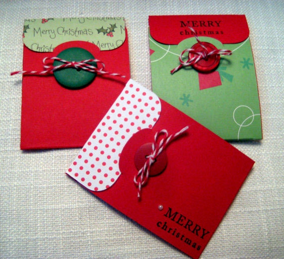 Items Similar To Handmade Christmas Gift Card Holders