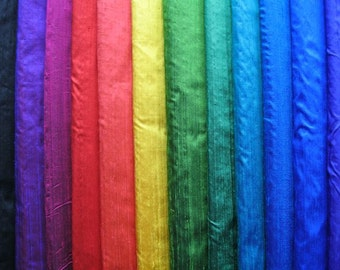 Dupioni SILKS in a rainbow of bright and luscious colors