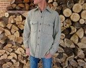 Vintage WOOLRICH Heavy Gray Shirt