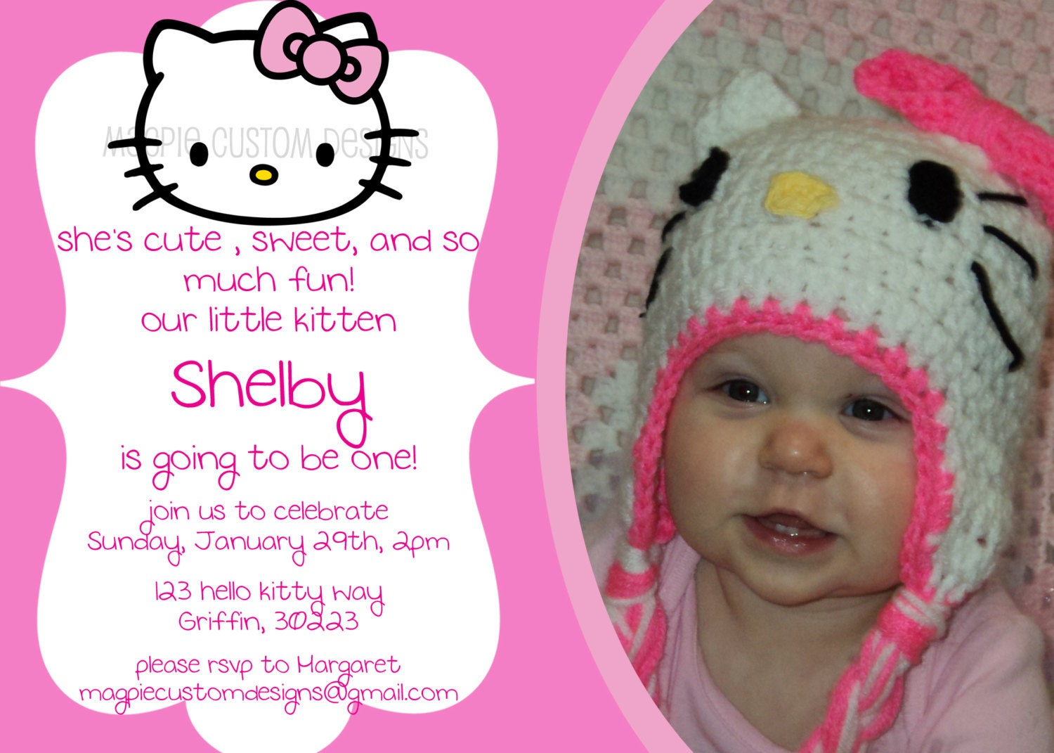 printable personalized hello kitty birthday invitation printable personalized hello kitty birthday invitation 128270zoom