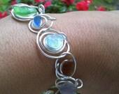 Seaglass bracelet, featuring Rhode Island seaglass