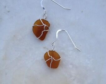 Seaglass Sterling Earrings