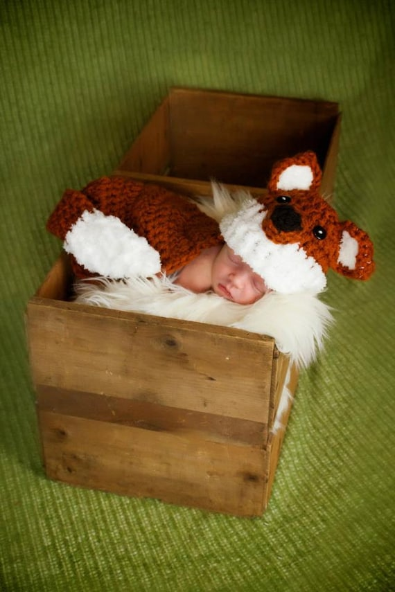 Fox Crochet Hat and Body Cape - Great photography prop