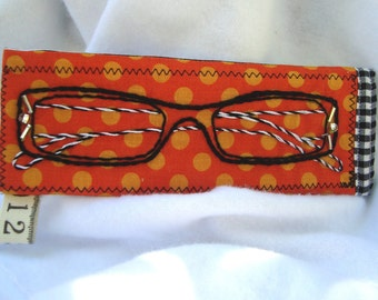 Hand embroidered eyeglasses sunglasses case pouch holder