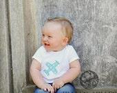 Little Boy's Shirt - Airplane Applique Design - Onesie or tshirt. Add a name for FREE. Handmade.