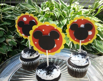 Mickey Mouse Cupake Toppers