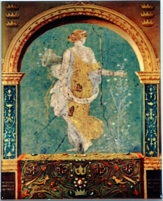 Antique Greek Art Tile Wall Hanging