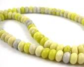 Beautiful Yellow Green Jade Abacus Loose Beads 5x8mm-78pcs Strand
