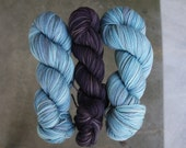 listing for Samantha-Kettle dyed organic merino GAIA in STORM WARNING worsted