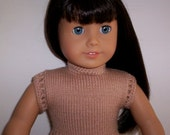 American Girl doll beige button in the back top.  This could be worn either with the buttons in the back or front.