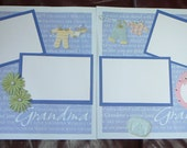 Premade Baby Boy Pregnancy Scrapbook Page  Double Layout 12 x 12