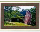 Barn Photograph, Art, handmade Note Card  card 5 x 7 Ithaca, NY Finger Lakes Region