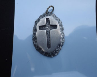 Sarah Coventry Engraved Cross Pendant