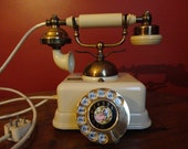 Vintage French Style Rotary Telephone
