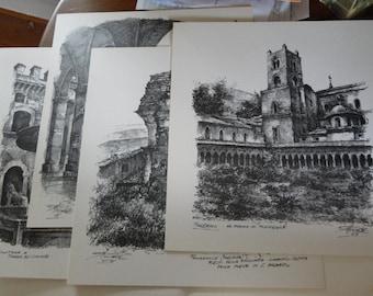Set of (6) Italian art prints by Amleto Fiore