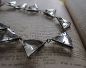 Twenties Triangles ART DECO 1920s Pyramid Faceted Prong Set Crystal Choker Necklace