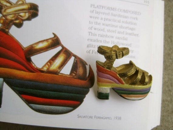 Ferragamo Rainbow Shoes Platform Rainbow Shoe Brooch