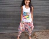 Children's Pastel Bianca Harem Pants (Pink/Blue)