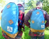 Vintage 70's ALPINE PRODUCTS Tear Drop Leather Bottom Daypack