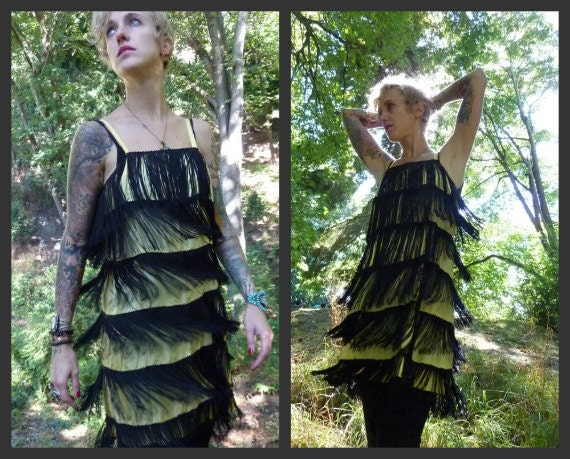 60's French Connection ROXY Flapper Dress, medium