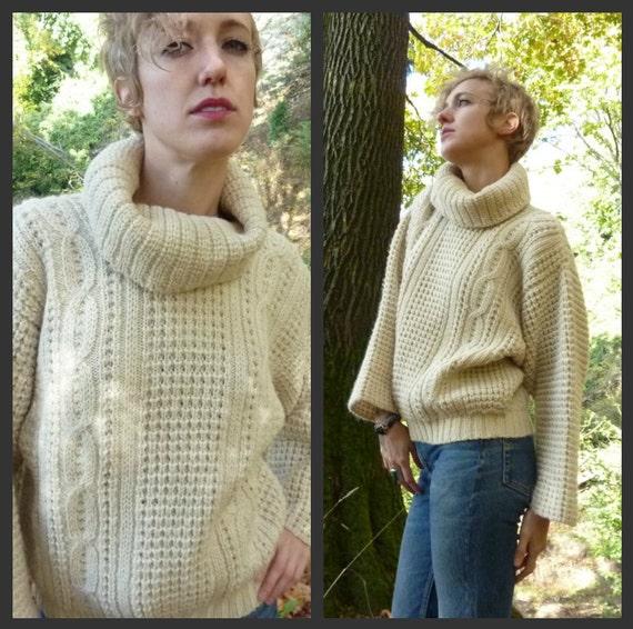 Irish Wool High Collared Hampton's Big Chill Sweater size Medium