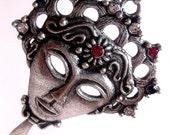 Aztec Queen Zombie Face Necklace Long